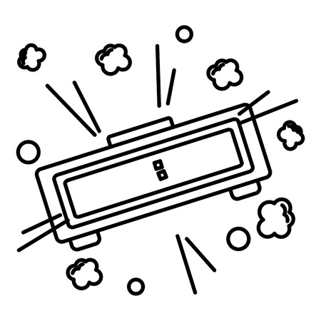 digital alarm pop art style vector illustration design