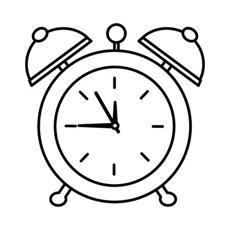 alarm clock pop art style vector illustration design Ilustração