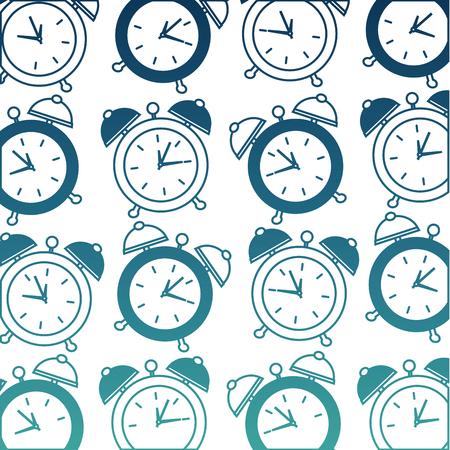 alarm clock pattern pop art style vector illustration design