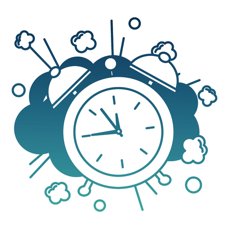alarm clock pop art style vector illustration design Illustration