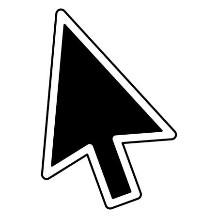 arrow mouse cursor pointer icon vector illustration design
