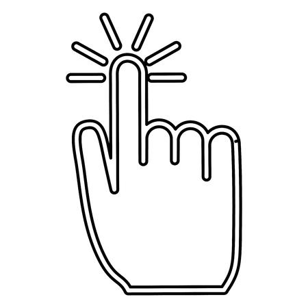 hand mouse cursor pointer icon vector illustration design