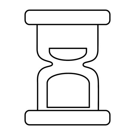 hour glass clock time image vector illustration