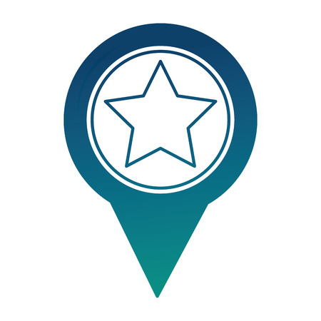 pin pointer location with star vector illustration design