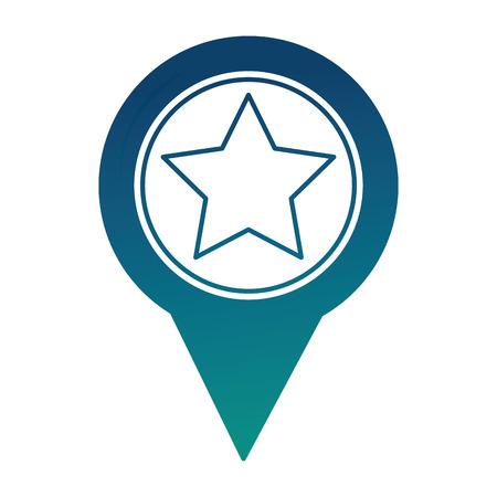 pin pointer location with star vector illustration design 版權商用圖片 - 100582889