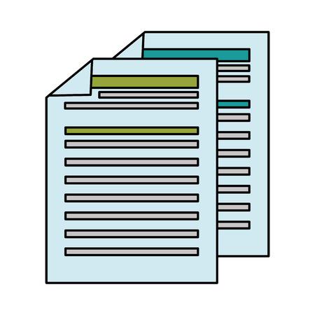 finance document paper icon vector illustration design Illusztráció