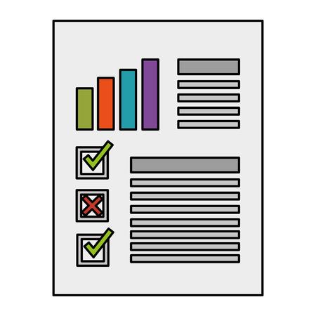 A finance document paper icon vector illustration design