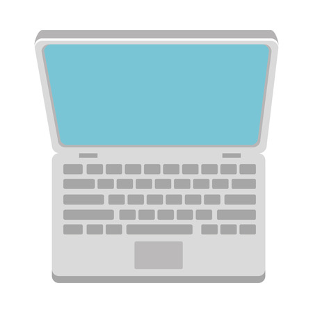 computer laptop isolated icon vector illustration design Stock Vector - 100670091