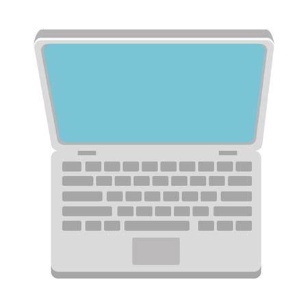 computer laptop isolated icon vector illustration design Illustration