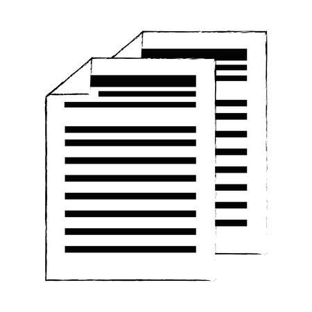 finance document paper icon vector illustration design Stock Illustratie