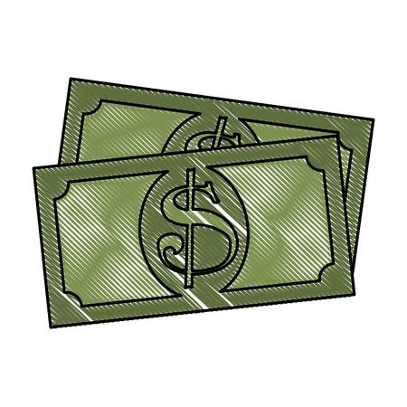 bills dollar money icon vector illustration design