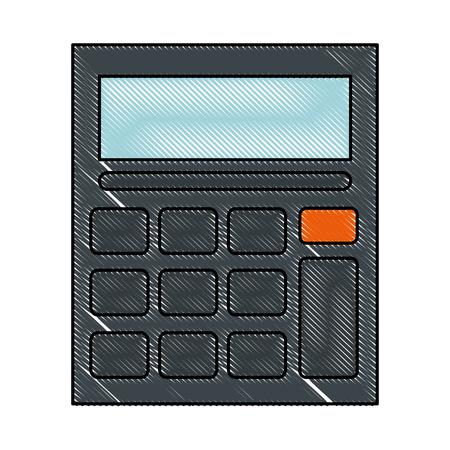 Calculator device isolated icon vector illustration design.  イラスト・ベクター素材