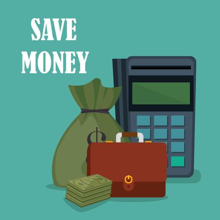 Save money set icons vector illustration design