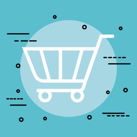 Shopping cart isolated icon vector illustration design Illustration