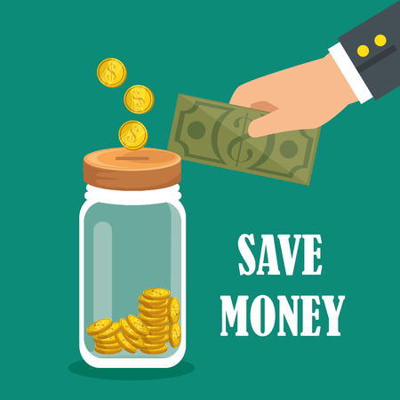 save money set icons vector illustration design