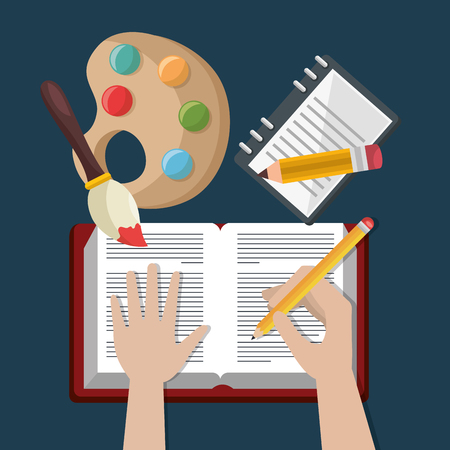 education easy learning set icons vector illustration design