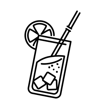 cocktail cup isolated icon vector illustration design