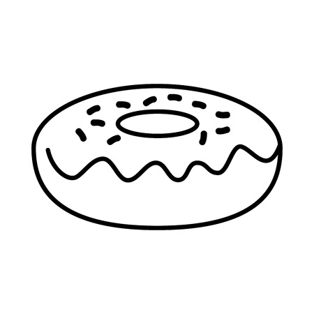 delicious sweet donut icon vector illustration design 写真素材 - 100719194