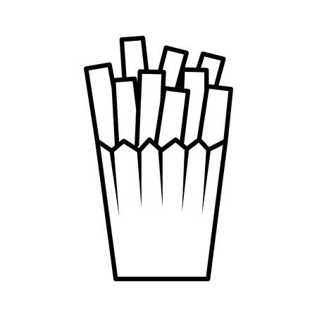 french fries potatoes icon vector illustration design Illustration