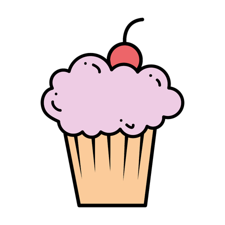 delicious cupcake isolated icon vector illustration design Stock fotó - 100611301