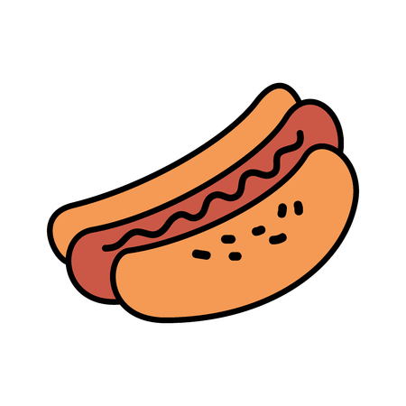 delicious hot dog icon vector illustration design Illustration
