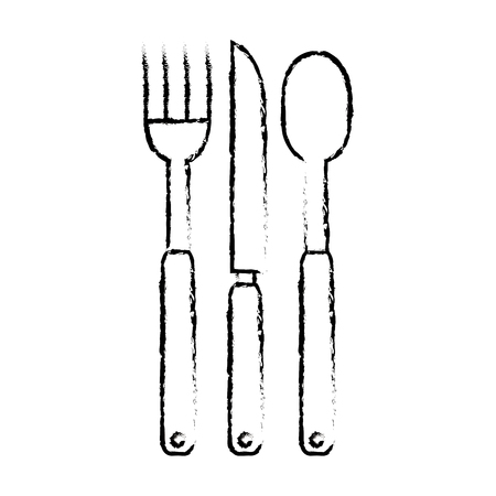 set cutlery tools icon vector illustration design Ilustração