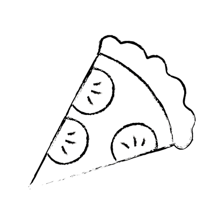 delicious italian pizza icon vector illustration design Illustration