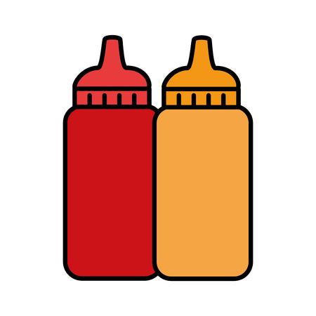 Sauce bottles plastic