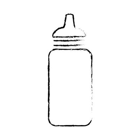 sauce bottle plastic icon vector illustration design
