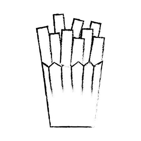 french fries potatoes icon vector illustration design Ilustração