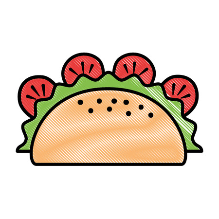 taco mexican food icon vector illustration design Illustration