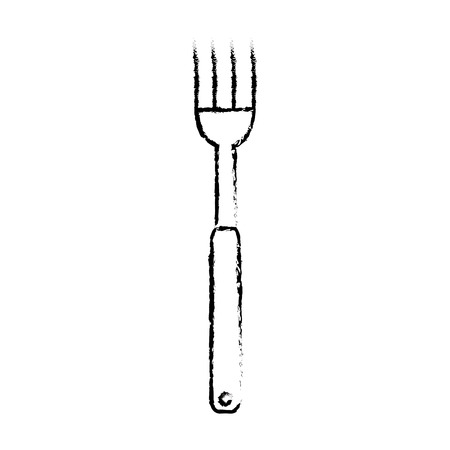 fork cutlery tool icon vector illustration design Çizim