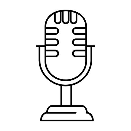 retro microphone isolated icon vector illustration design Foto de archivo - 100657694