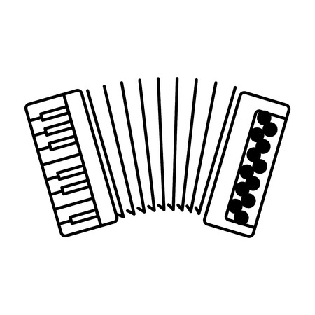 accordion musical instrument icon vector illustration design