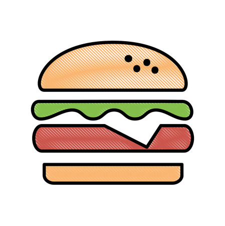 delicious burger isolated icon vector illustration design 向量圖像