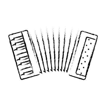 Diseño de ilustración de vector de icono de instrumento musical de acordeón Ilustración de vector