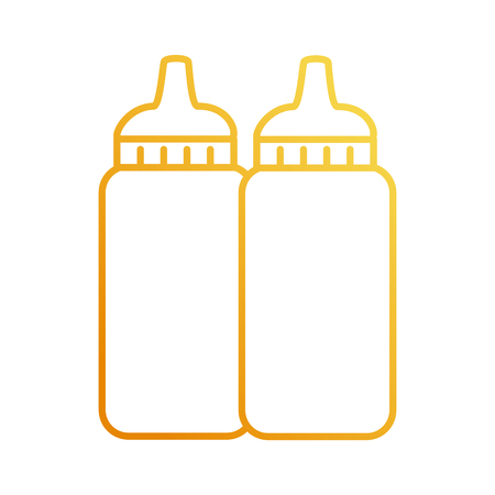 sauce bottles plastic icon vector illustration design