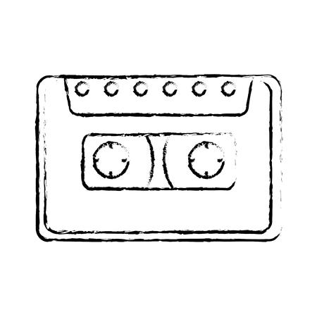 cassette retro music icon vector illustration design 일러스트