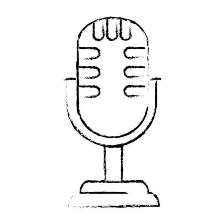 retro microphone isolated icon vector illustration design Stok Fotoğraf - 100610220