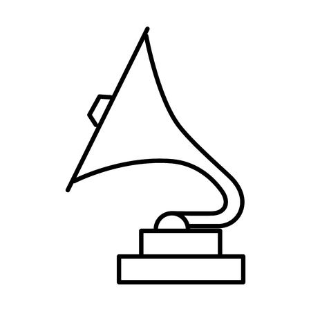 phonograph retro music icon vector illustration design Illustration