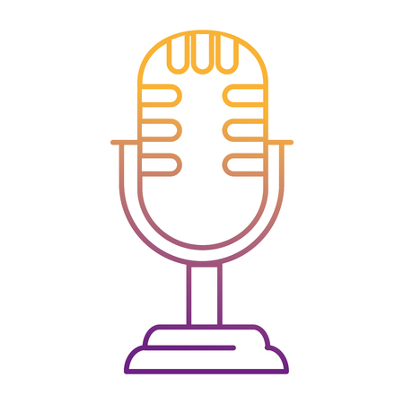 retro microphone isolated icon vector illustration design