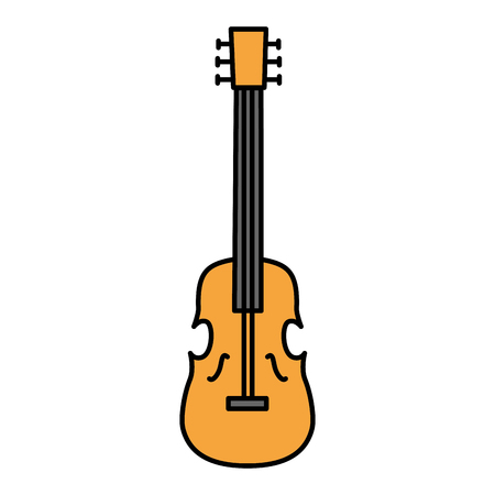 violin musical instrument isolated icon vector illustration design