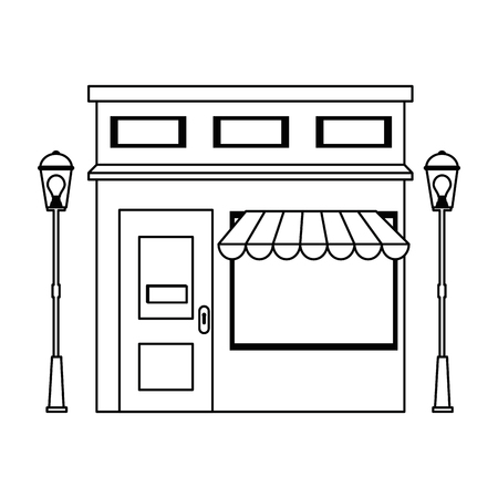 store building front facade vector illustration design Illustration