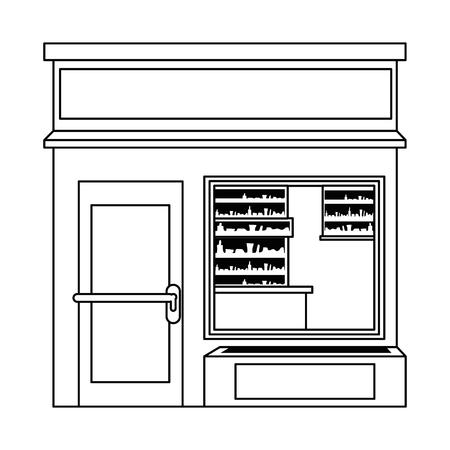 store building front facade vector illustration design 向量圖像