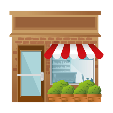 store building front facade vector illustration design  イラスト・ベクター素材