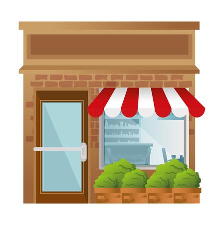 winkel bouwen voorgevel vector illustratie ontwerp