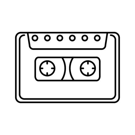 cassette retro music icon vector illustration design 向量圖像