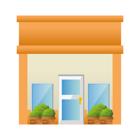 store building front facade vector illustration design Archivio Fotografico - 100618104