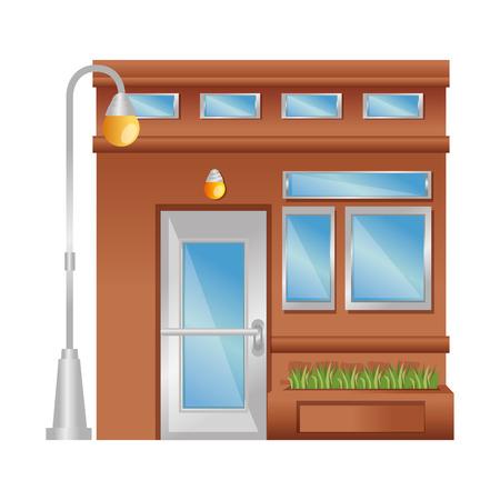 house facade front icon vector illustration design Stock Vector - 100618106