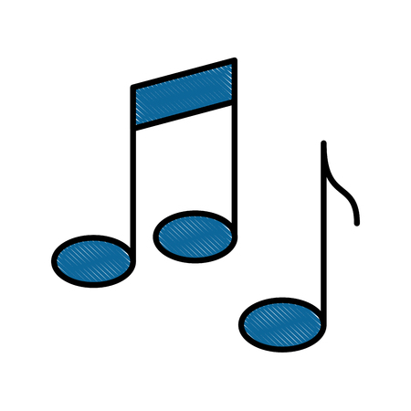musical notes isolated icon vector illustration design